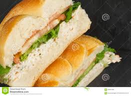 Seafood Salad Sandwich stock photo ...