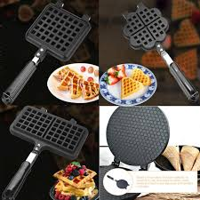 Eggette's kitchen isn't currently accepting orders. Waffle Maker Eggettes Pan Nonstick Egg Bubble Baking Mold Plate Tool Gas Stoves For Sale Online Ebay