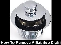 push pull pop up bathtub drain