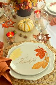 fall table featuring items from the