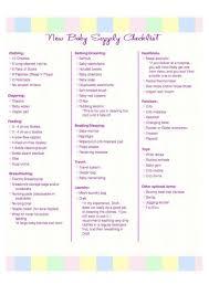 New Baby Supply Checklist Mallika Pinterest Baby Baby