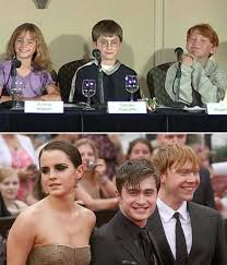rupert grint and emma watson and daniel radcliffe then and now. Perfect And Harry Potter Cast Announcement On Rupert Grint And Emma Watson Daniel Radcliffe Then Now W