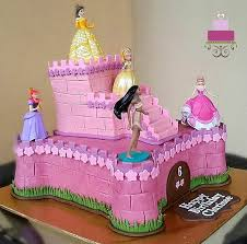 Buttercream Castle Cake With Princess Toppers