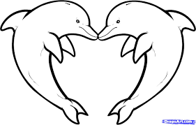 Dolphin Heart Drawing Out Lines Step 10 How To Draw Love