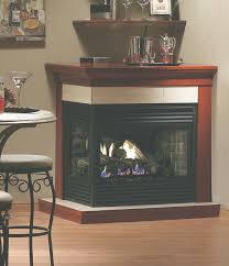 kingsman direct vent corner fireplace with millivolt controls
