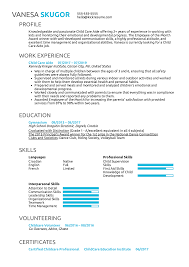 Resume Examples By Real People Child Care Aide Resume