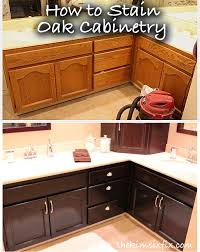 Restain Oak Kitchen Cabinets Delectable How To Stain Oak Cabinetry Tutorial DIY Home Projects