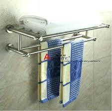 brushed nickel heavy duty shelf and rod bracket decoration bathroom shelves towel stands