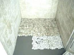 river rock tile bathroom floor rock mosaic tile shower floor