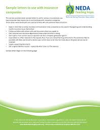 Pdf Sample Letters To Use With Insurance Companies