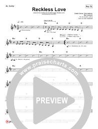 Reckless Love Rhythm Acoustic Guitar Chart Bethel Music