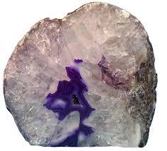 Geode Light Starstuff Rocks Beautiful Purple Brazilian Agate Cut Base And Pof Polished One Face Geode Tea Light Candle Holder