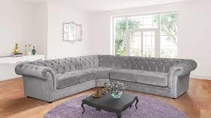 light grey fabric 2c3 chesterfield