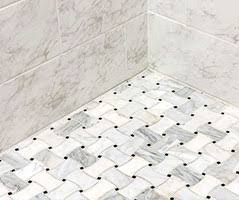 tile floor. Fine Shower Marble Mosaic Floor With How To Tile E . S