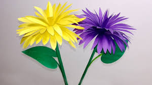 Flower Making Paper Stick Flower How To Make Stick Flower Making Paper Flowers Step