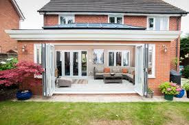 folding exterior doors uk. bifold doors in white - exterior folding uk u