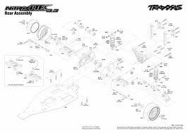 Traxxas 4 Tec 2 0 Gearing Chart 4807 Nitro 4 Tec 3 3 Rear Assembly Traxxas
