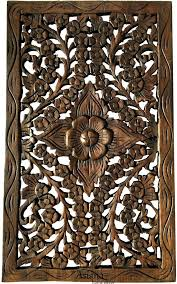 wood carvings wall decor wood carved wall panel hand carved fl wall art decor rustic wall