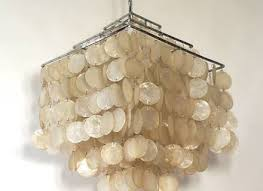 capiz shell chandelier by verner panton at 1stdibs