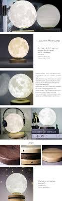 Levitating Moon Lamp. Moon Lamp Magnetic Levitation