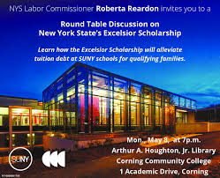 nys labor commissioner roberta reardoninvites you to around table discussion onnew york state s excelsior scholarshiplearn how