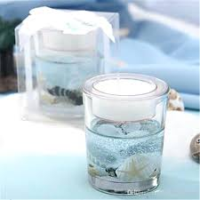 a beach collection ocean shell themed candle holder set of 3 diy wine glass