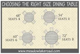 right size dining table for room. round dining table sizes right size for room c