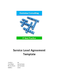 help desk service level agreement template itil service level agreement template word