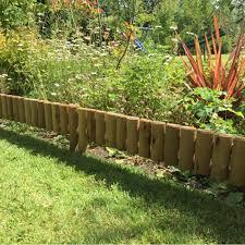 half log edging for garden borders