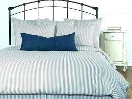 ticking stripe bedding duvet cover vintage sham neutral stri