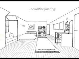 bedroom drawing one point perspective.  Perspective One Point Perspective Room Tutorial On Bedroom Drawing