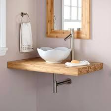 bamboo bathroom sinks bathroom vessel faucet