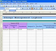 Change Management Template Free Fascinating Change Control Template Excel TheDL