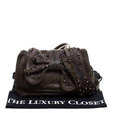 3 1 Phillip Lim Size Chart 3 1 Phillip Lim Khaki Leather Bow Studded Edie Shoulder Bag