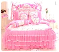 princess bedding queen whole pink set home textile lace bow ruffles printed quilt duvet cover bedspread full size of princess comforter pink