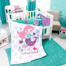 details about princess little mermaid crib bedding set nursery for baby shower gift 6 pcs