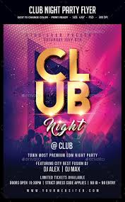 Party Flyer Magnificent Club Night Party Flyer Clubs Parties Events Download Here