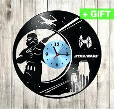 diy wall clock kits star wars custom decals clocks for room decor decorative wall clocks wall