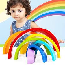 Wholesale- SUKIToy <b>Wooden</b> block Kid's Soft Montessori <b>Colorful</b> ...