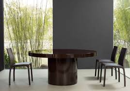 contemporary table wooden round