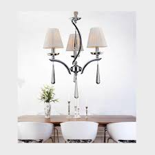 cwi lighting alice 3 light chrome chandelier with white shade