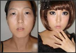 the difference between using and not using makeup