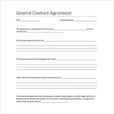 Simple Contractor Agreement Template Sample Contract Agreement 13 Free Documents Download In