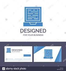 Computer Card Design Creative Business Card And Logo Template Laptop Computer