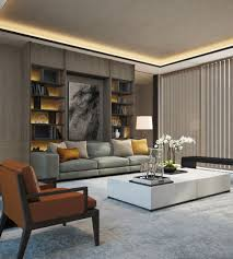 Lounge Living Room Scda Mixed Use Development Sanya China Show Villa Type 2