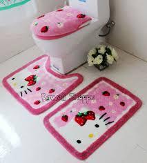 Hello Kitty Bathroom Rug Set
