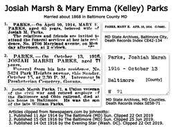 Mary Emma Kelley Parks (1847-1914) - Find A Grave Memorial