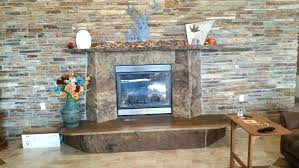 tiled fireplace wall