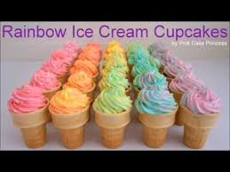 rainbow cupcakes in ice cream cones. Modren Cupcakes Ombre Rainbow Ice Cream Cupcakes How To Make Cupcake Cones Intended In O