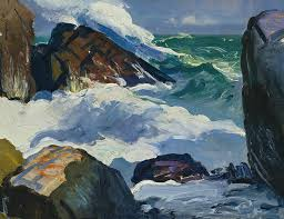 george bellows painting sunlit surf by george bellows